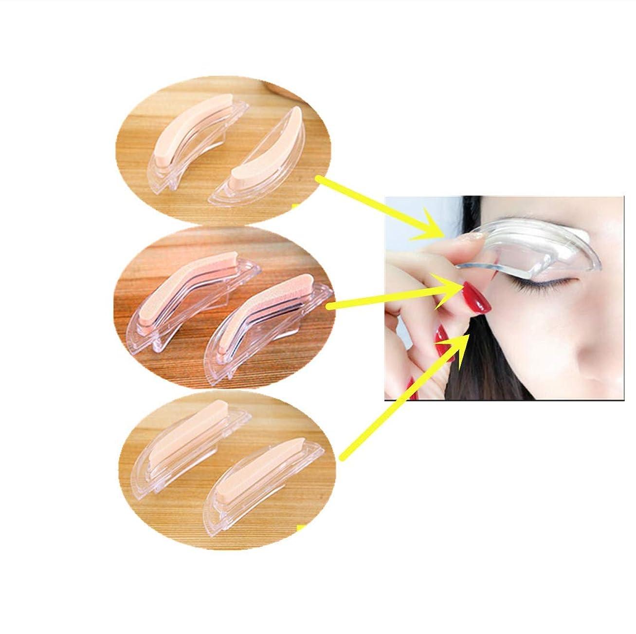 説明的離れた溶けるDexinyigeアイブロウ スタンプ 眉毛 ストレートアイブロウスタンプ トレンドストレート /3種類の眉形セット 美化粧道具 入れ墨道具