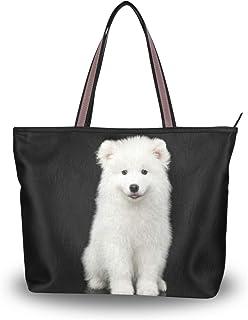 My Daily Damen Schultertasche Samoyed Puppy Handtasche