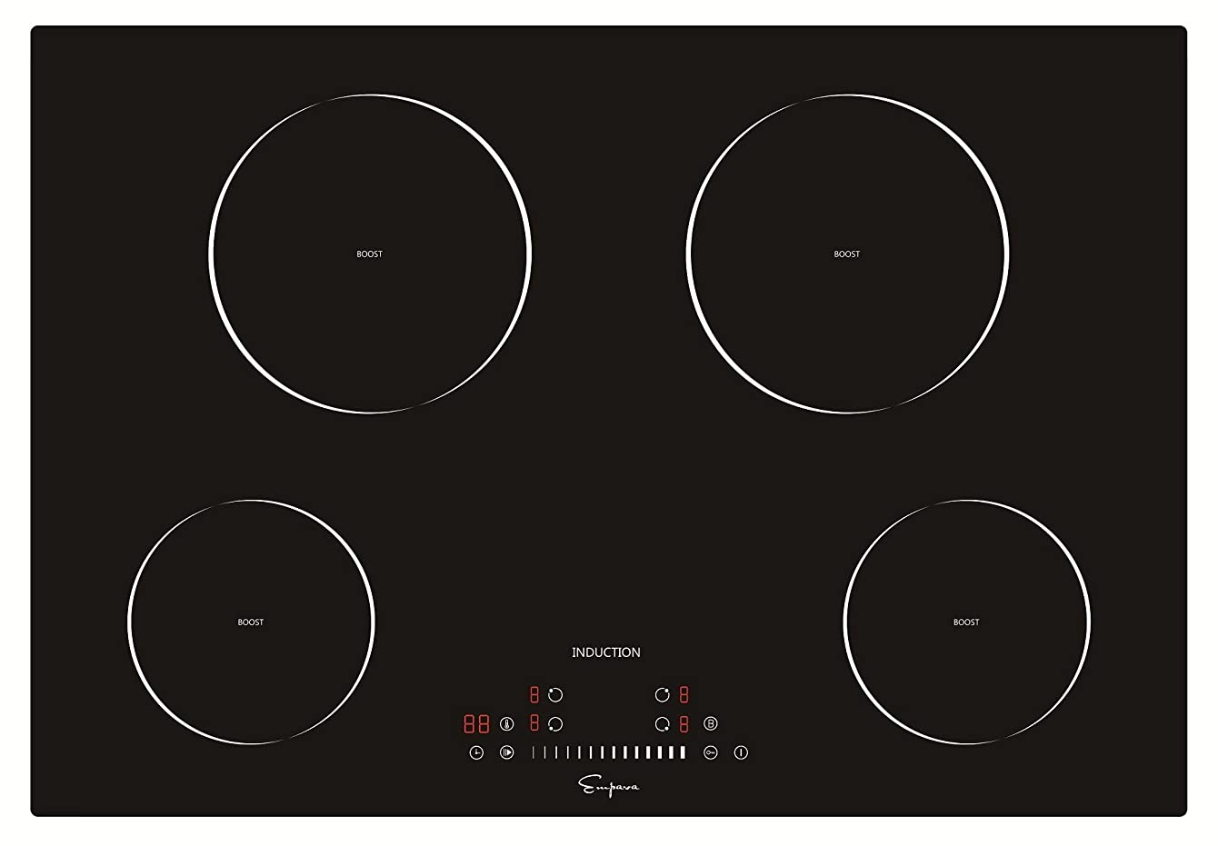 "Empava 30"" Induction Cooktop Electric Stove Black Vitro Ceramic Smooth Surface Glass EMPV-IDC30 awucutulzfftk19"