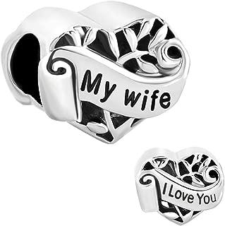 Jewelry Heart Love Family Tree My Wife Cheap Beads Fit Pandora Charm Bracelet
