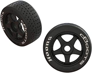 ARRMA Dboots Hoons 42/100 2.9 Belted Rc Tires with Foam Inserts, Mounted On 5-Spoke Black..