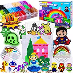 🌈【 Hours of Fun 】 Have a blast with arts and craft with melt fuse pop beads! Have the parent child bonding moments that you need! 🌈【 Vividly Colored Beads 】 Each set containing 5500 beads with 21 different color variations to ensure that you got all ...