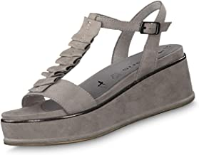tamaris sandalen plateau grau