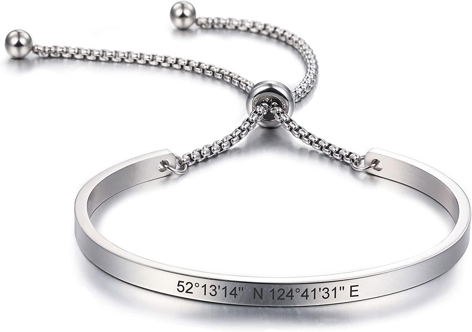 MeMeDIY Personalized Bracelet Engraving ID Name Max 68% Challenge the lowest price OFF C Identification