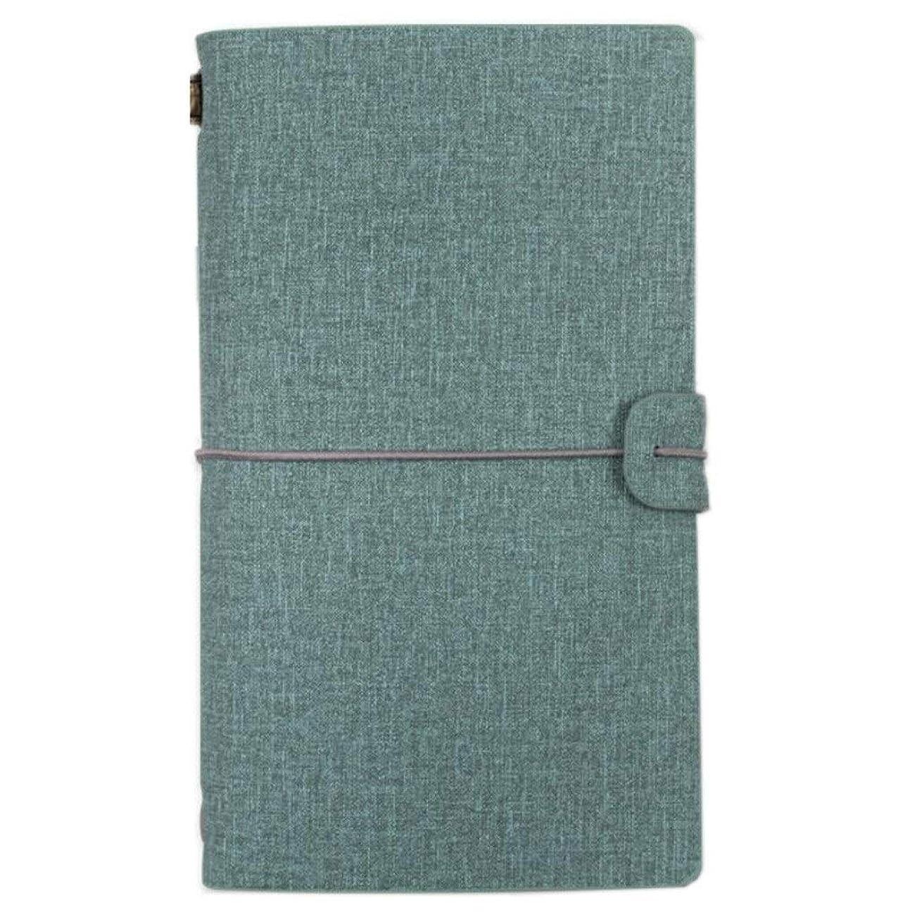 ノート/メモ帳、ハンドブックA6クリエイティブトラベルジャーナル、ダイアリーオーガナイザー、2個 (色 : Vintage blue)