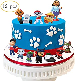 BoBc 12PCS Paw patrol cake topper,cake and cupcake decorations topper,paw patrol mini toys,children's Action Figures Collection birthday shower party supplies