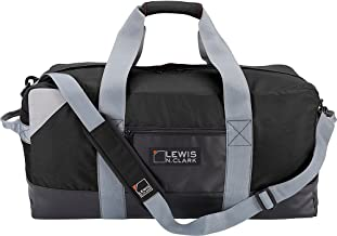 Lewis N. Clark حقيبة كبيرة متينة من القماش الخشن للنساء والرجال، حقيبة محمولة من القماش الخشن