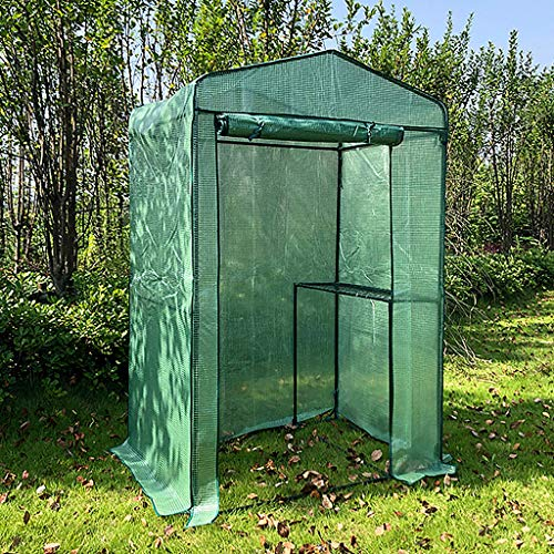 Flower Winter Greenhouse Translucent PE Cover Greenhouses for Outdoors Can Be Rolled Up to Observe Breathable Windows Green Plants Keep Warm, Antifreeze and Sunscreen