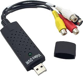 Homyl Adaptador VHS de Placa de Captura de áudio USB 2.0 Portátil para Computador de Vídeo DVD