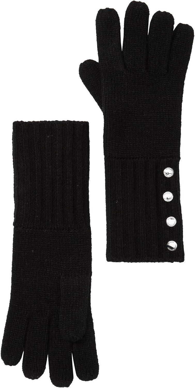 Bargain Michael Kors Women`s Ribbed Knit Gloves Max 49% OFF