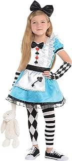 Girls 4 Piece Alice in Wonderland World Book Day Week TV Book Film Fancy Dress Costume Outfit