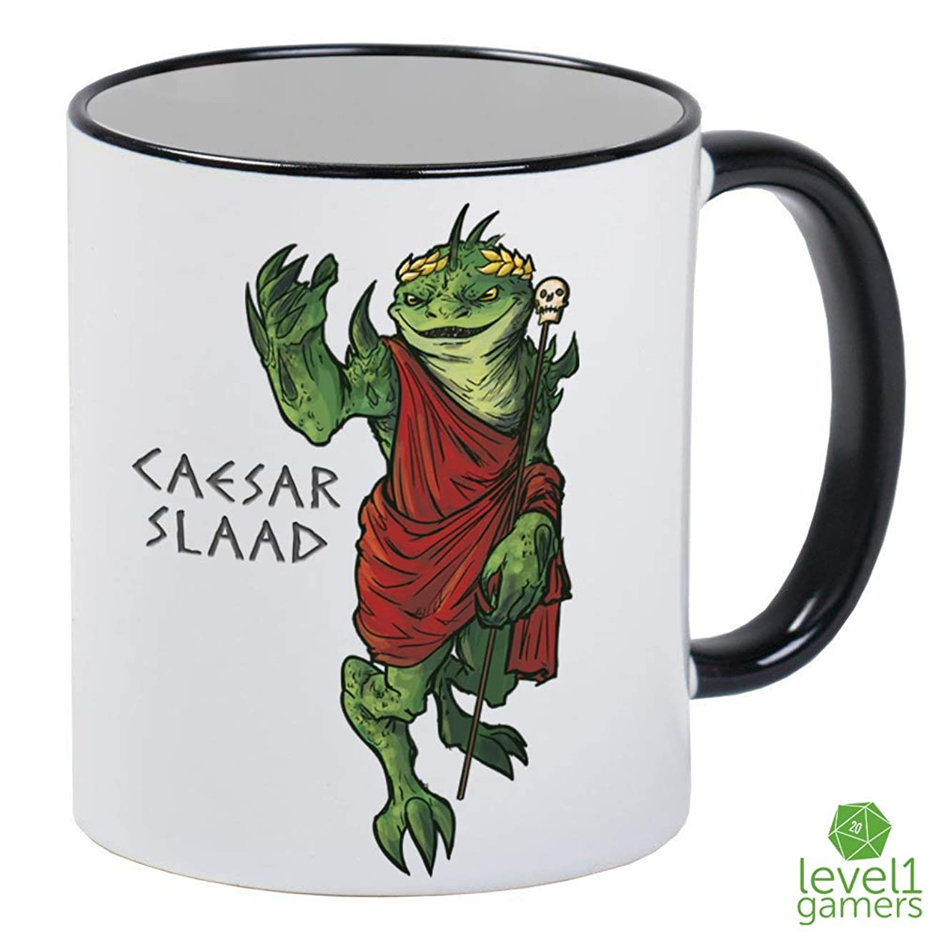 Caesar Slaad White Gaming Mug With Black Handle And Interior