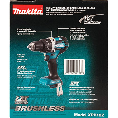 Makita XPH12Z 18V LXT Lithium-Ion Brushless Cordless 1/2