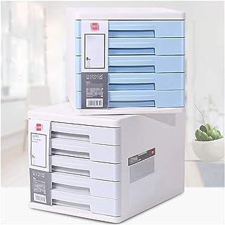 Rangement de dossiers Bureau Cabinet de fichiers, Organisateur de bureau avec 5 tiroirs, Fournitures de bureau, boîte de b...
