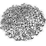 ULTNICE Rivetti Borchie per Scarpe Vestiti Bracciali Fai Da Te Decorazione 6mm (Argento) - 100 Pezzi