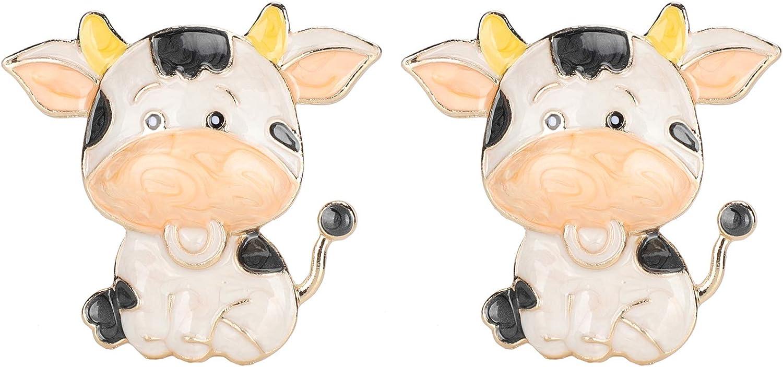GLOGLOW Cute Cartoon Cheap SALE Start supreme Brooch 2 Pcs Cow Badg Alloy