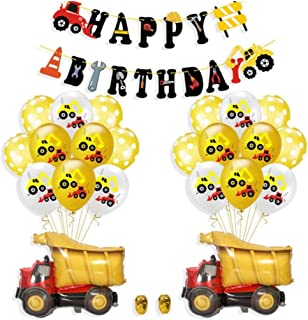 AM ANNA Construction Birthday Party Supplies Dump Truck Party Decorations Kits Set for Kids Birthday Party provide