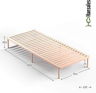Cama somier Individual de Madera 100x200 cm y Cama 2 plazas ...