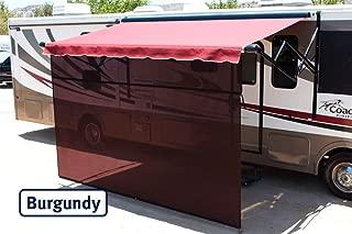 Shade Pro Vista Shade - RV Awning Sunscreen 85% Solar Mesh (17' x 7', Burgundy)