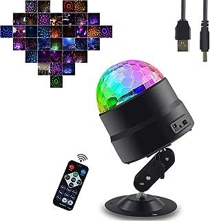 sahadsbv LED Disco Ball Strobe Light Stage Light avec USB et Support à Ventouse activé par Le Son/télécommande Lumières de...