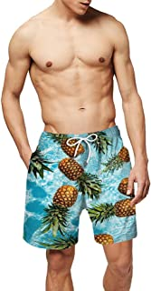 Mens Beach Shorts Swim Trunk with Pockets, DOTBUY Summer 3D Printed Mesh Breathable Fashion Quick Dry Board Shorts Plus Si...