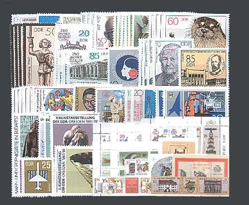 Goldhahn DDR Jahrgang 1987 postfrisch komplett Briefmarken für Sammler