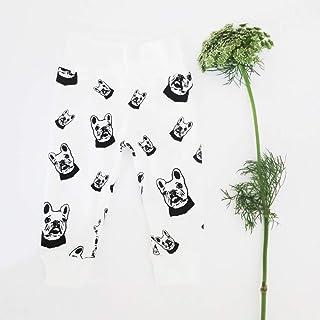 French Bulldog Print 12-18 Month Toddler Leggings, Organic Cotton Baby Clothes