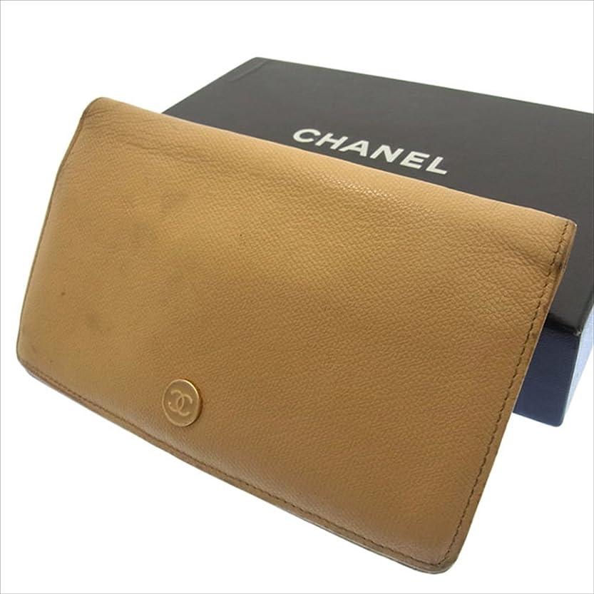 探す広告主展望台シャネル CHANEL 二つ折り財布 長財布 ユニセックス ココボタン 中古 F416