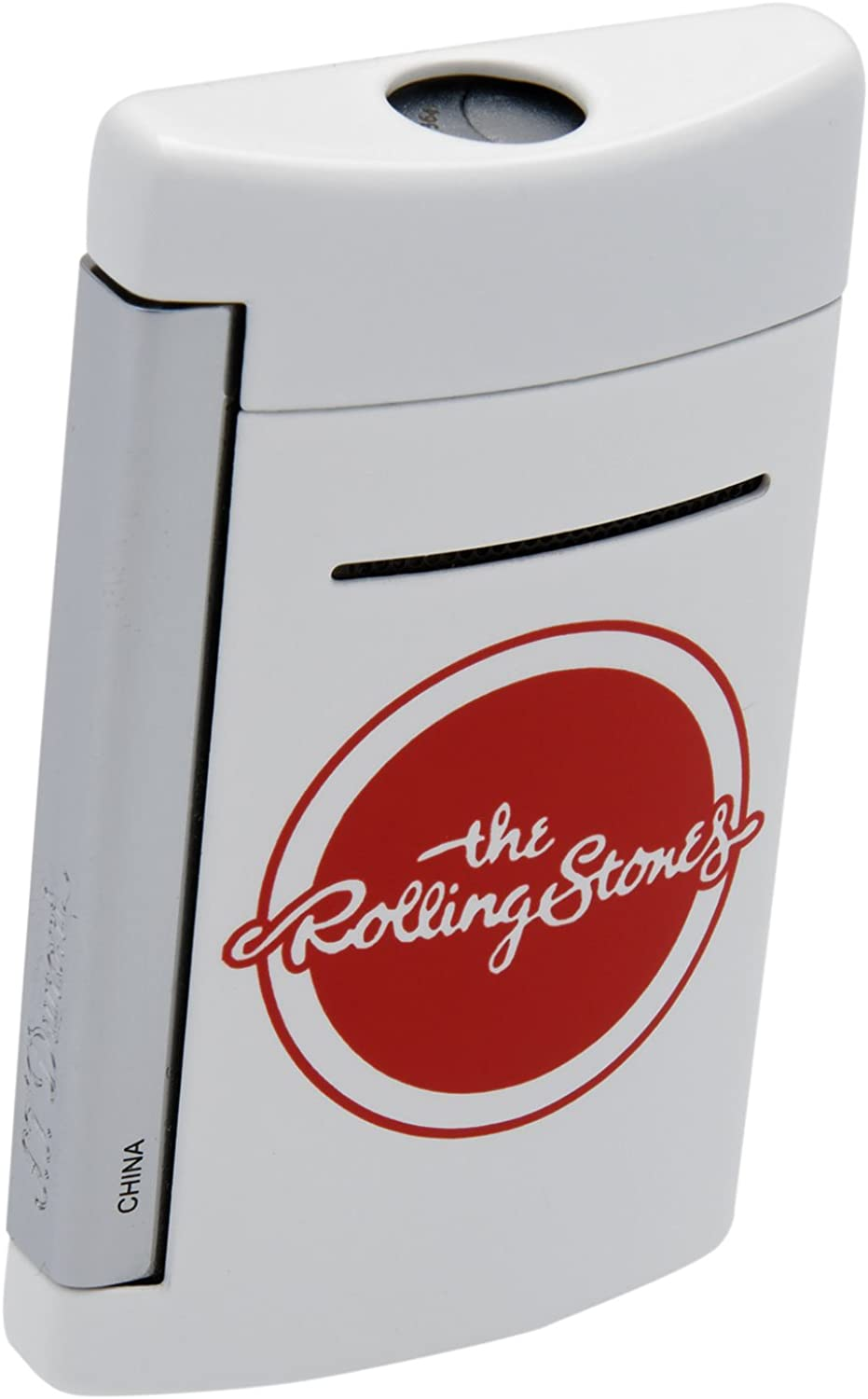 S.T. Dupont Rolling Stones White MiniJet Lighter Limited Edition Tongue and Lips 010109RS