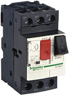 Schneider Electric Push Button Manual Motor Starter, No Enclosure, 17 to 23 Amps AC