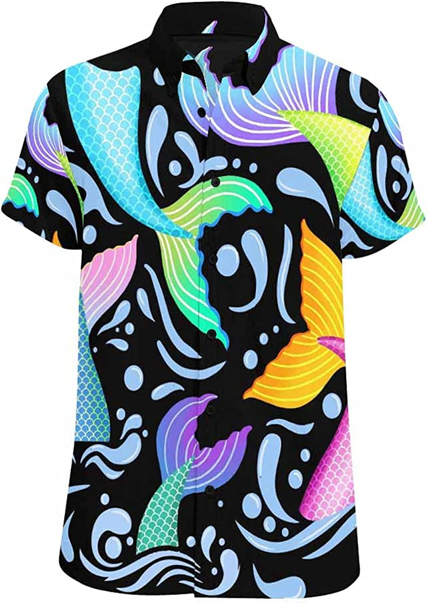 InterestPrint Mermaid Tails and Austin Mall Ranking TOP3 Water Print Button Down Splashes