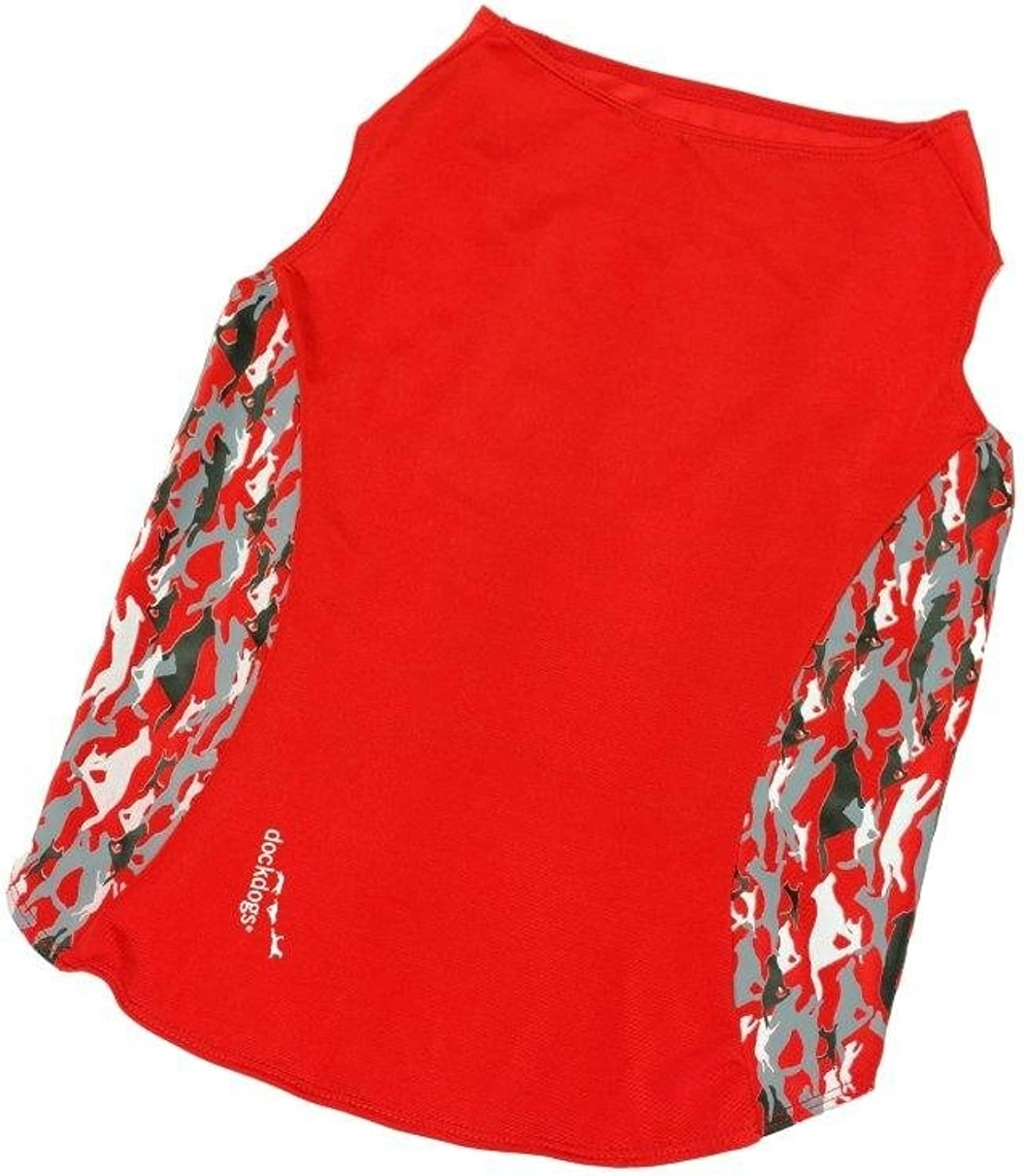 Dockdogs Pipeline Series High Performance Watersuit for Medium Dogs, Red