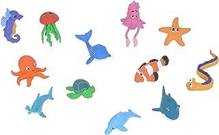 Wild Republic Ocean Babies Figurines Tube, Octopus, Shark, Dolphin, Sea Turtle, Sea Horse, Hammerhead, Clown Fish, EEL, Wh...