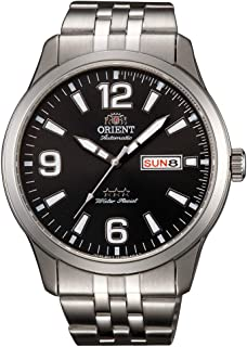 Orient Mens Automatic Watch, Analog Display and Stainless Steel Strap RA-AB0007B19B