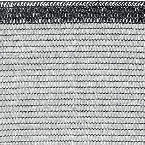 tenax Soleado Rete Tessuta schermante ombreggiante, Grigio Chiaro, 2,00 x 10 m