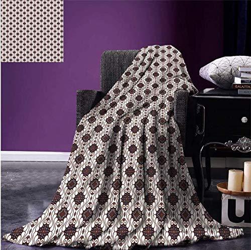 Werp batik-patronen met geometrische invloeden punten lijnen en ruiten warm microvezel-deken 150 * 200 cm