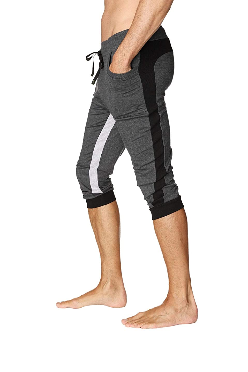 4-rth Men's Ultra-Flex Tri-Color Cuffed Yoga Pant