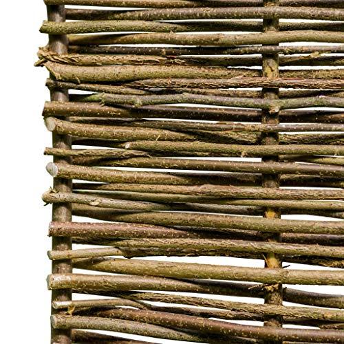 Tidyard Zaun Haselnussholz Hazelnut Wood Fence 150 x 40 cm Wooden Fence Plug Fence Flower Bed Edging Garden
