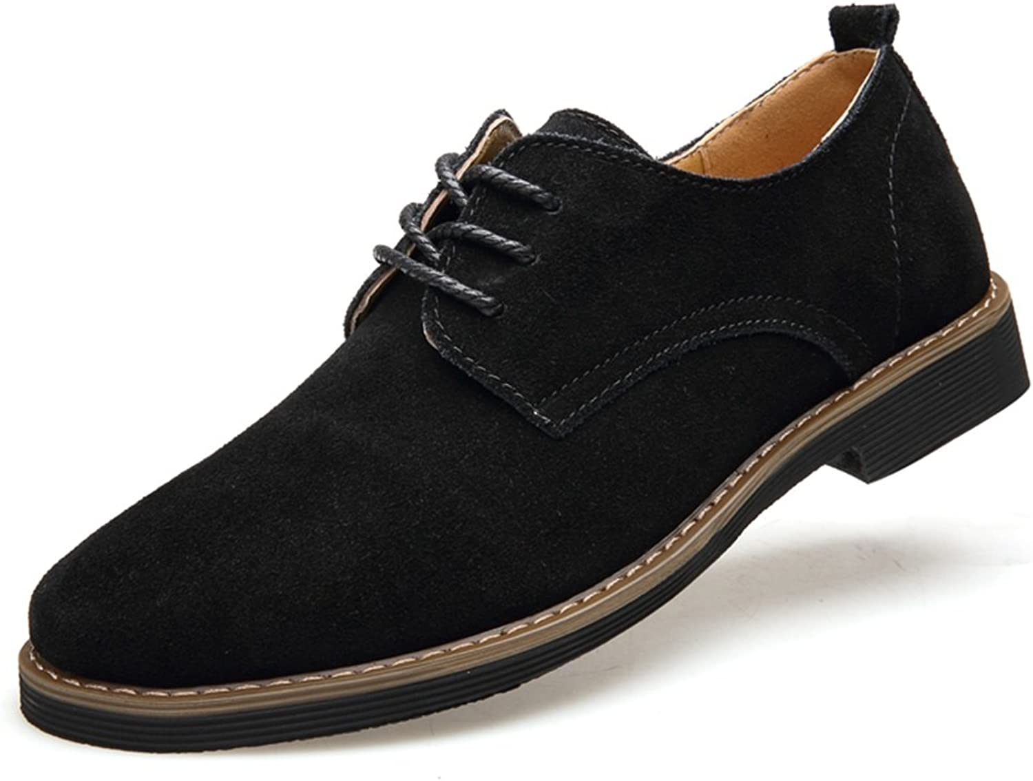 2018 New Men's shoes Suede Spring Fall Breathable Comfort Oxfords Lace-up Deck shoes Casual Formal Business Work Black, Brown, bluee (color   C, Size   44)