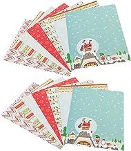 EXCEART Kerstmissneeuwvlok Afdrukken Papier Diy Vouwen Papier Achtergrond Kaart Papier Handwerk Scrapbooking Fotoalbum Acc...