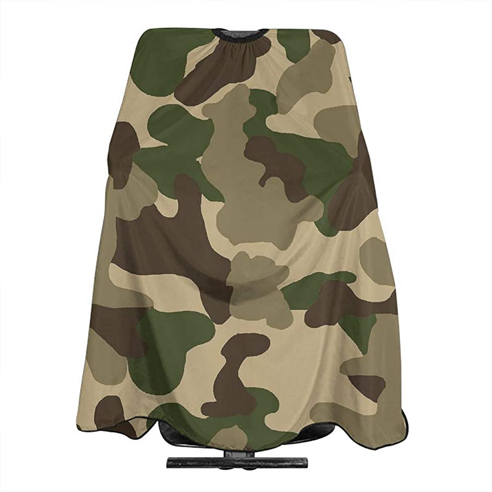 Professional Barber Cape Green Coffee Camouflage Salon Haircut Aprons Hair Styling Gown For Coloring Perming Hair Cutting Treatment Shampoo Chemical Proof Hairdresser 55