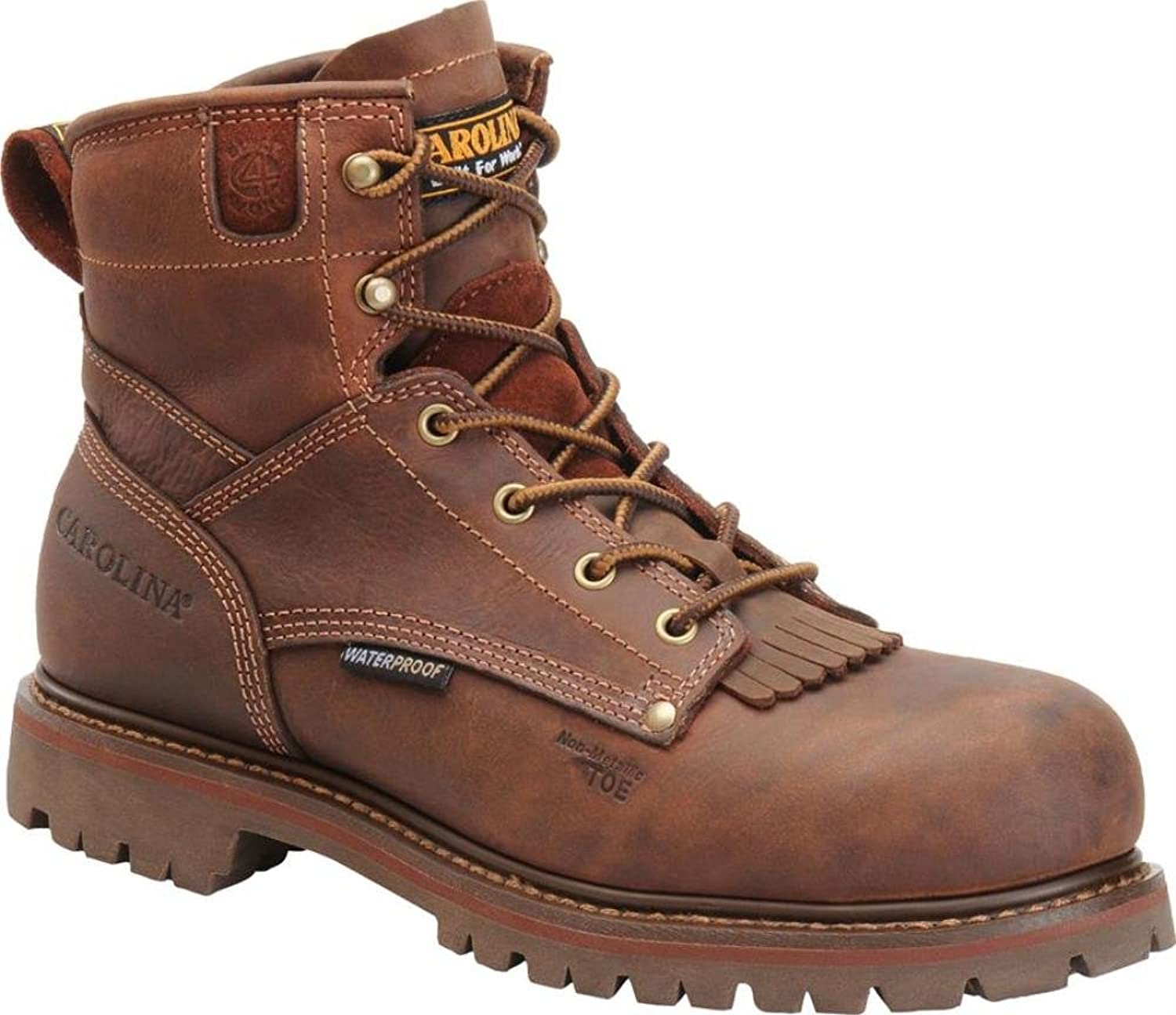 Carolina Mens 6  Waterproof Grizzly Boot