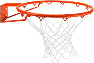Crown Sporting Goods Stainless Steel Basketball Rim with Free All Weather Net,  Standard/18,  Orange