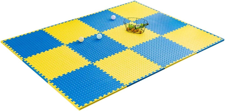 MAHFEI-Puzzlematten Schlafzimmer Wohnzimmer Kind Kriecht Fitnessstudio Umweltschutz Weich rutschfest PE Mehrfache Farben Freie Kombination (Farbe   A, Größe   40pcs)