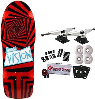 Vision Skateboards Complete Old School The Original Black/Red 10