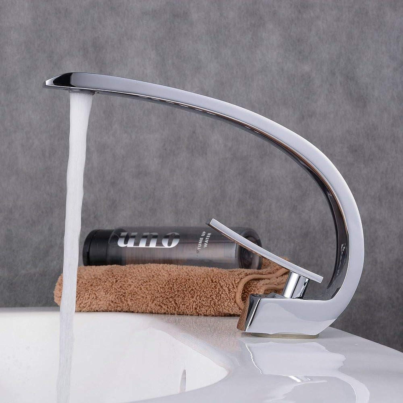 Wasserhahn Athroom Taps Mixer Chrom C-Form Mono Waschtischmischer Waschbecken Wasserhahn