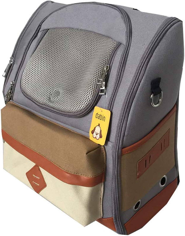 MIJIN Outdoor Pet Carrier Cat Dog Backpack Breathable Pet Dog Bag College Style Bags Portable Travel Bag Mesh Backpack,C
