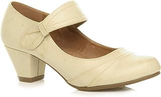 Femmes Talon Moyen Babies découper Chaussures Richelieu Escarpins Pointure