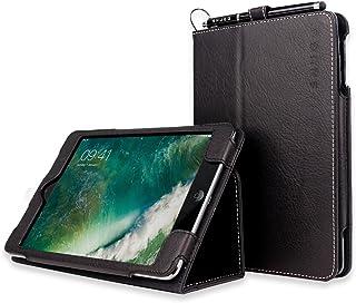 Snugg iPad Mini 1 (2012) / 2 (2013) / 3 (2014) Leather Case, Flip Stand Cover – Black