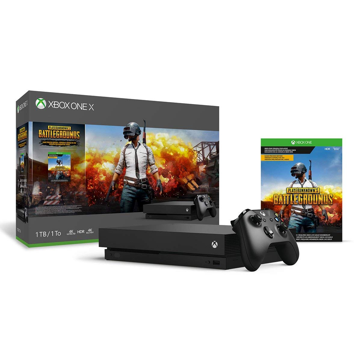 Xbox One X 1TB Special Free Shipping Cheap Bargain Gift price for a limited time Console PLAYERUNKNOWN'S - Bund BATTLEGROUNDS
